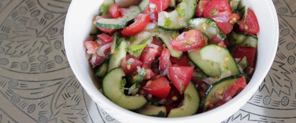 Tomat og agurkesalsa